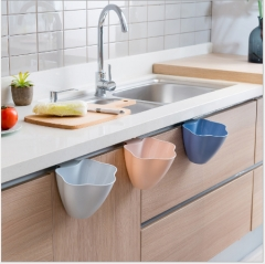 The kitchen cabinet door hanging flower type dustbin without cover receive a box of trash bin randomly As shown in figure