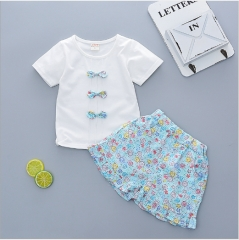 Female baby suits summer wear new clothes blue 70 cm