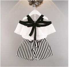 Baby girls summer wear condole belt vest chiffon dress black 80 cm