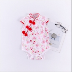 Dish buckle baby cheongsam red 70 cm
