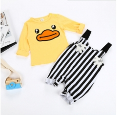 Yellow duck infant suit baby clothes yellow 70cm