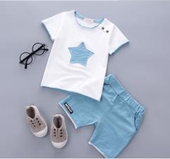 The new cotton pentagram summer baby boys The light blue 80cm