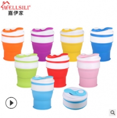 Tourism telescopic cup sports outdoors accompanied cup cup