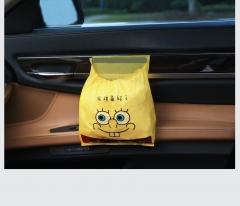Car garbage bag paste bag yellow 45