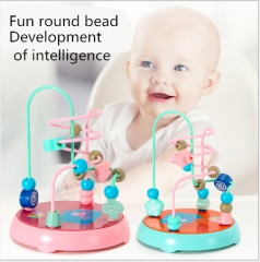 Infants and young children around the ball puzzle toy boy female baby early education pink as shown in figure