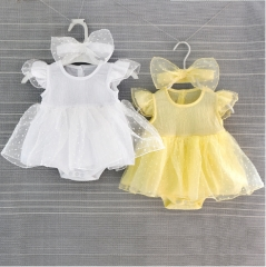Girls dress in summer yellow 3m