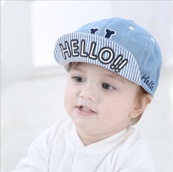 ca219faa7ec1a Children s baseball cap baby baby duck tongue sunshade hat Navy blue ...