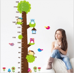 The kindergarten children room decoration height can remove the wall stickers owls 81*144cm