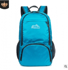Folding travel backpack outdoor backpack blue As shown in figure