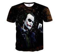 Harajuku Joker Poker 3D Print Cool T-shirt Men Women Short Sleeve Summer Tops Tees T shirt Fashion black M