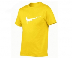 Mens T-Shirts Summer cotton Short Sleeve T Shirts casual Tee Shirts Male T shirt Homme Plus yellow m
