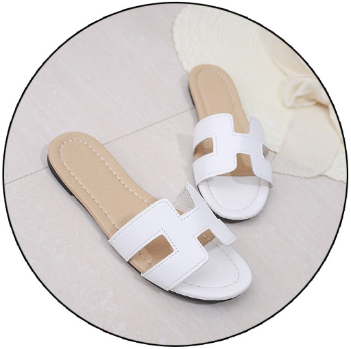 3cff234c4627 With H slippers 2019 Xia Jiping sandals women s flat sandals with a ...
