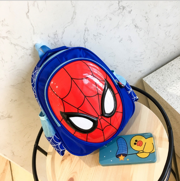 The new kindergarten children bag personality wave packet 4 to 6 years of age male girl backpack blue As shown in figure