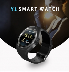 Bluetooth Y1 Smart Watch Relogio Android SmartWatch Phone  Remote Camera Sports Pedometer silvery