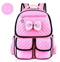 The girl lovely backpack backpack students pink As shown in figure