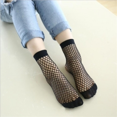 Sexy Hollow out Nets Socks Ladies Sweet Mesh Sox black one size