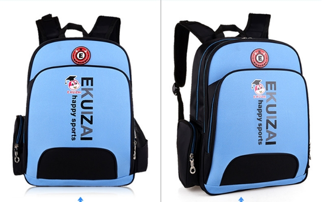 Elementary school children's backpack backpack blue as shown in figure
