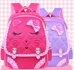 Girls large volume waterproof backpack wear-resisting, a primary school pupil's school bag pink as shown in figure
