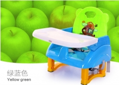 Multi-function baby children eat table, portable chair seat stool Green, blue as shown in figure