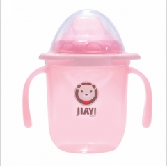 Baby training drink cup Infants and young children the double handle learn drink cup pink as shown in figure