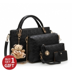 Handbags 6 colors Classic Fashion Women Luxury Handbag PU Leather Bags black one size
