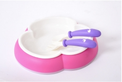 Baby tableware tableware antiskid assist food bowl and lovely children pink as shown in figure