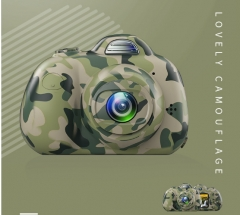 Children's small mini digital camera SLR dual camera motion camera small toys camouflage(no memory card) As shown in figure