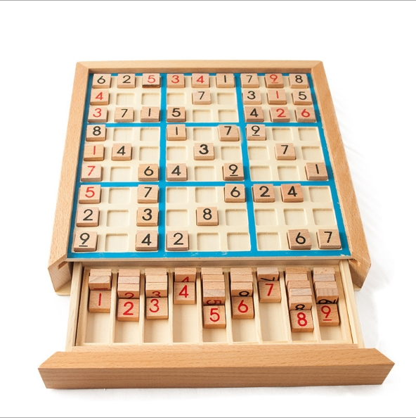 Wooden sudoku game Adult logical thinking Children's educational toys as shown in figure as shown in figure