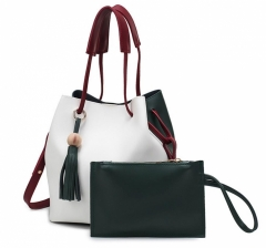 2PCS Bucket bag Design Women Shoulder Bags green one size