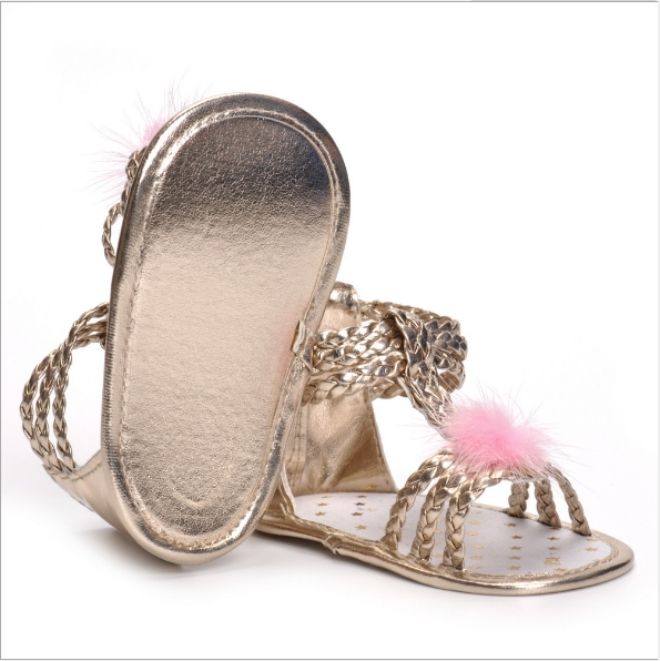 eaa302feb1d Baby sandals woven PU toddler 0 and 1 year old girl sandal shoes ...