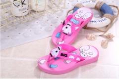 Baby kids' shoes sandals flip-flops cartoon men and women red 24m