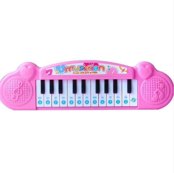 Keyboard beginners baby early education the 1-2-3 year old girl little piano music toys pink as shown in figure