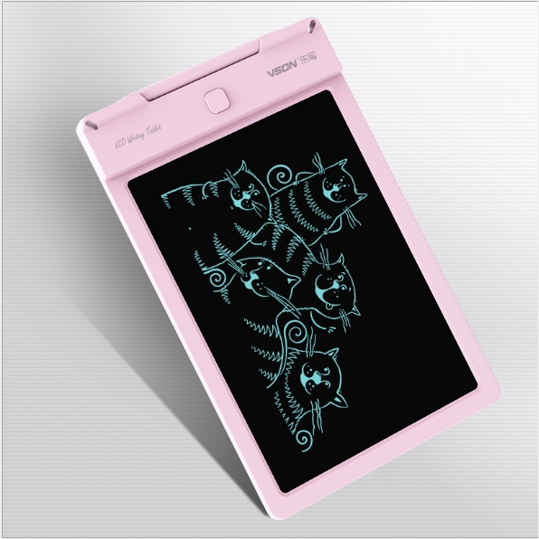 9 inches LCD tablets children electronic LCD light draft work office for tablet pink as shown in figure