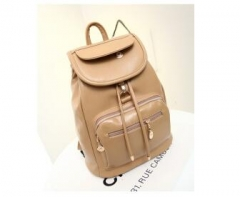 men women fashion school bags travel laptop bag boy backpack Khaki one size