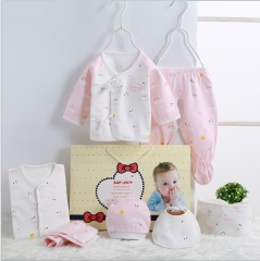 Baby clothes cotton baby underwear suits gift box pink 59cm
