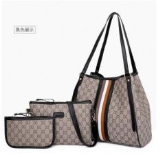 Three-piece portable women's bag, fashionable one-shoulder bag, crossbody bag black one size