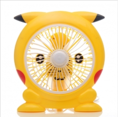 Pikachu rotary vane small fan Dormitory students dormitory small mini electric fan as shown in figure