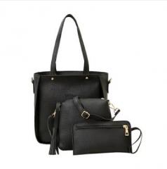 Women's single - shouldered slant - across bag carrying large bag black one size