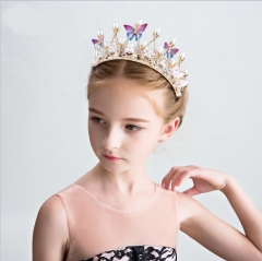 Children's crown princess crown hair girl birthday diamond crystal hair hoop of the girls As shown in figure as shown in figure