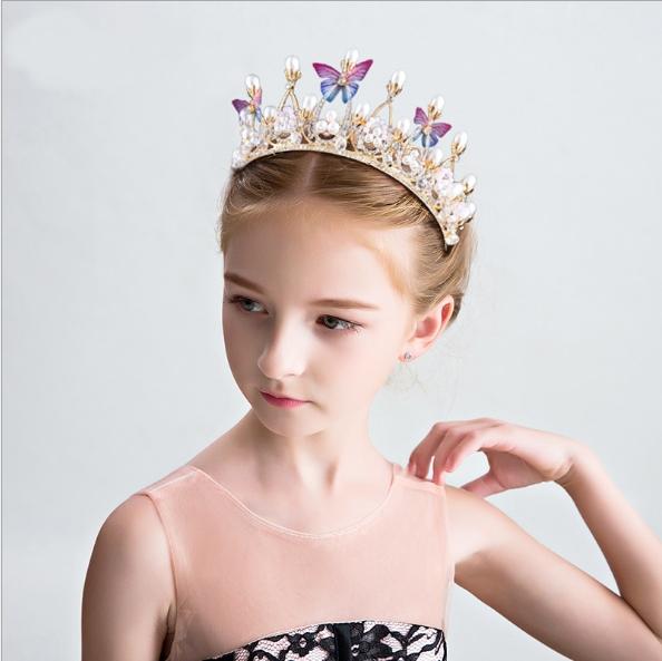 Children's crown princess crown hair girl birthday diamond crystal hair hoop of the girls As shown in figure as shown in figure