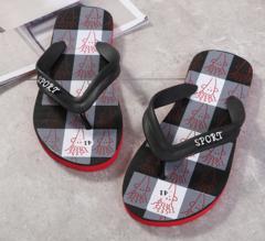 Summer new men's clip-on flip-flops youth trend leisure non-slip flip-flops black 40