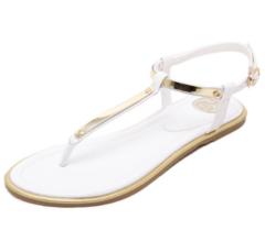 Summer sandals ladies casual fashion flat shoes fairy shoes ladies flip-flops beach shoes white 35