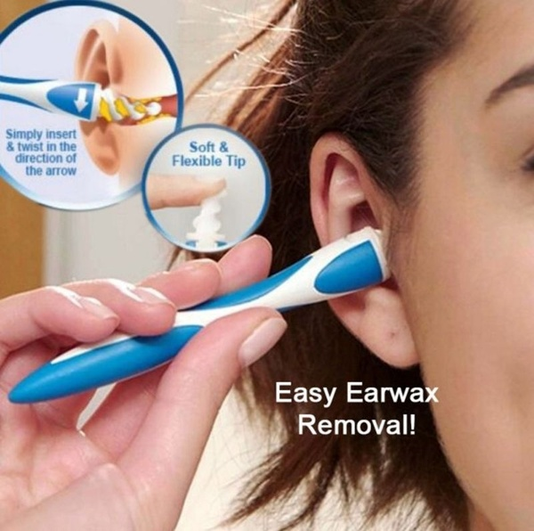 Smart Silicone Ear Cleaner Health Care Tools With 16 Replacement white