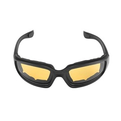 Motorcycle Riding Glasses Wind Resistant padded Comfortable jetski Windproof yellow one size