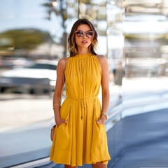 Fashion Women Lace Strapless Pleated​ Off the Shoulder​ Sexy Stree Dresses yellow m