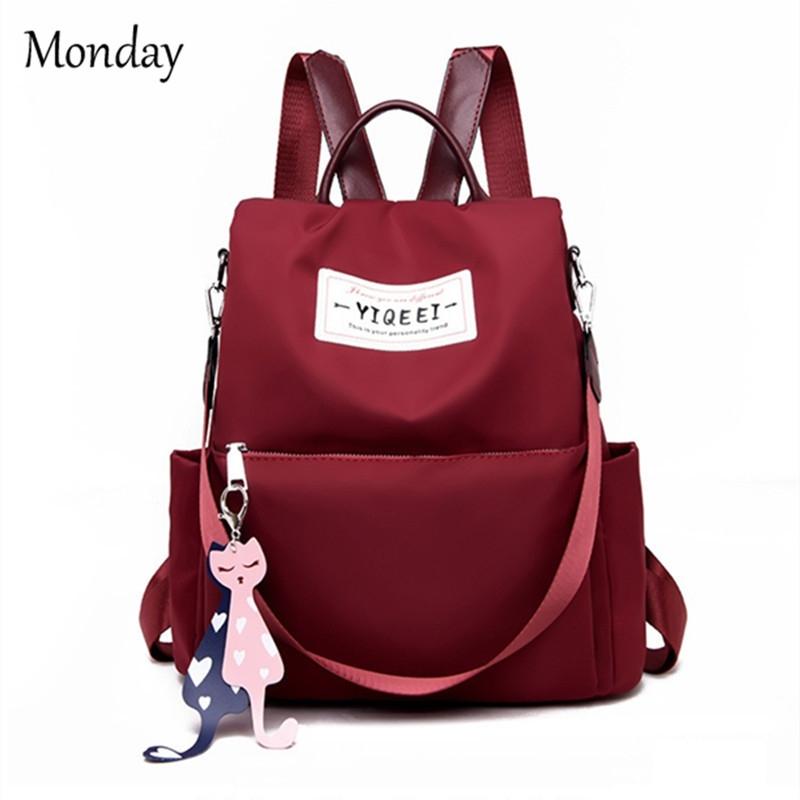 0b555ea19de6 MONDAY Women s Backpack Waterproof Oxford Cloth Shoulder Bags ...