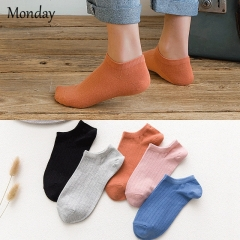 MONDAY 10 Pairs Candy Colors Women's Socks Boat Socks Short Ankle Socks Casual 10 pairs a set one size
