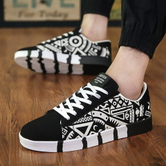 MONDAY Adult Classic Canvas Shoes Mens Fashion Skate Shoes for Boys Students black 02 39