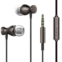 MONDAY Earbuds/Earphones/Headphones Wired Stereo Bass Headphones with Built-in Microphones black