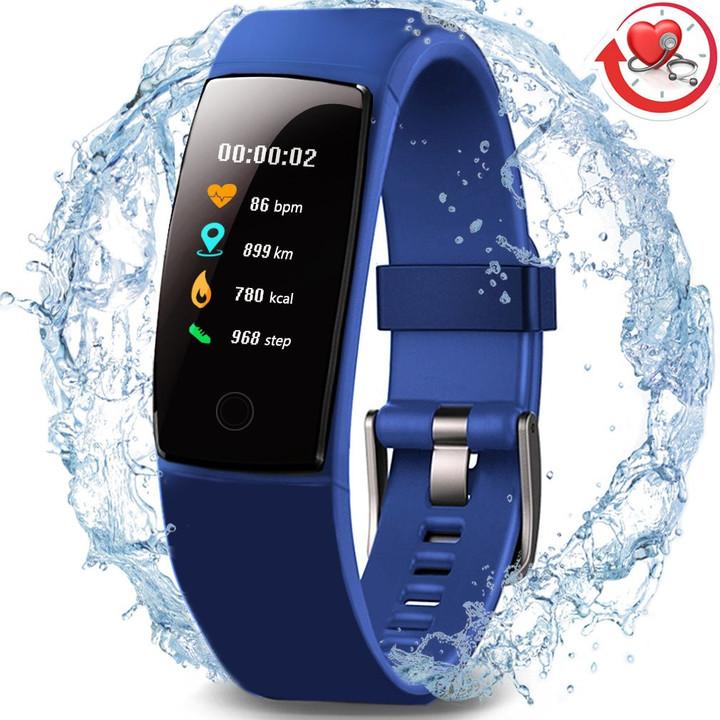 MONDAY Color Screen Sport Smart Watch Waterproof Health FitnessTracker for Smartphones Gift navy